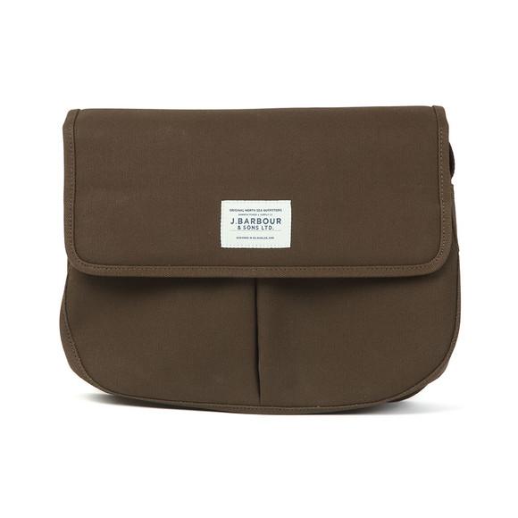 Barbour Lifestyle Unisex Green Cotton Canvas Tarras Bag main image