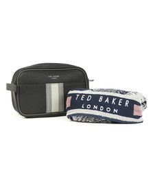 Ted Baker Mens Black Wash Bag And Towel