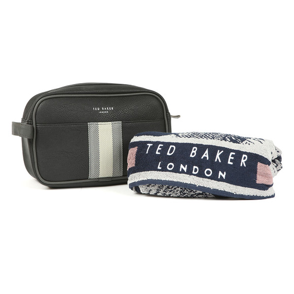Ted Baker Mens Black Wash Bag And Towel main image
