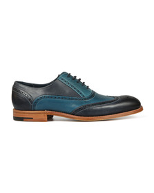 Barker Mens Blue Valiant Hand Painted Shoe