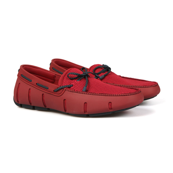 Swims Mens Red Braided Lace Loafer main image