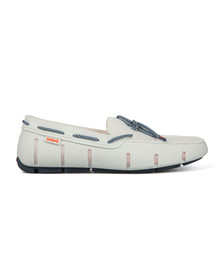 Swims Mens White Stride Lace Loafer