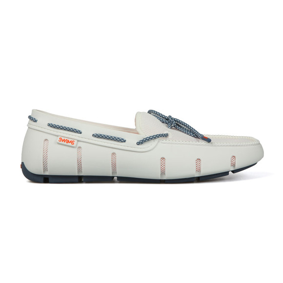 Swims Mens White Stride Lace Loafer main image