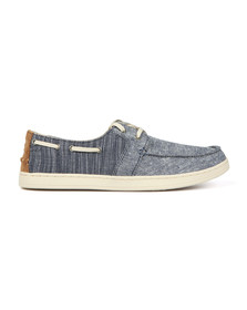 Toms Mens Blue Chambray Culver Canvas Boat Shoe