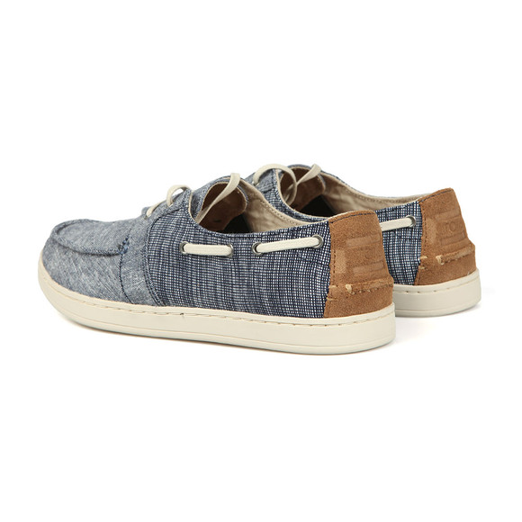 Toms Mens Blue Chambray Culver Canvas Boat Shoe main image