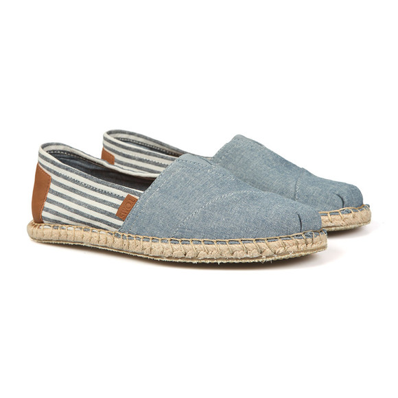 Toms Mens Blue Blanket Stitch Canvas main image