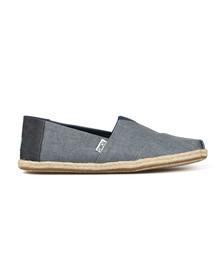 Toms Mens Blue Linen Classic Slip On