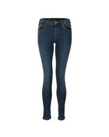Vivienne Westwood Anglomania Womens Blue Leather Patch Super Skinny Jean