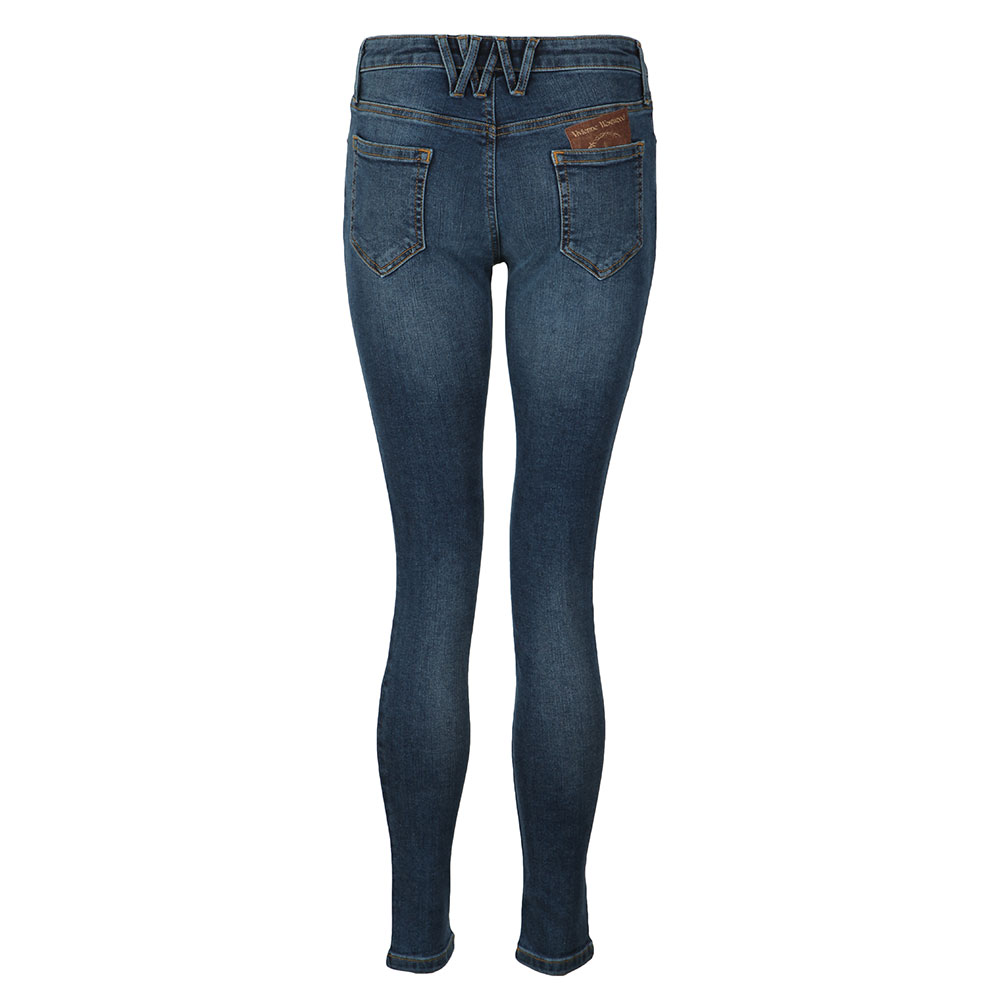 Leather Patch Super Skinny Jean main image