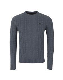 Henri Lloyd Mens Grey Kramer Crew Neck Jumper