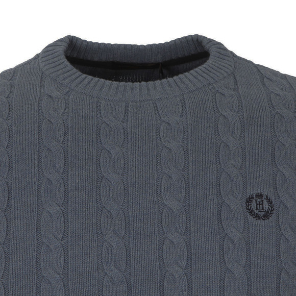 Henri Lloyd Mens Grey Kramer Crew Neck Jumper main image