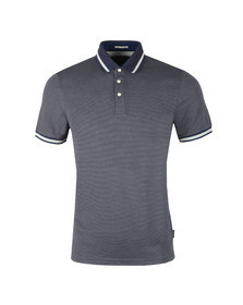 Ted Baker Mens Blue S/S Birdseye Polo