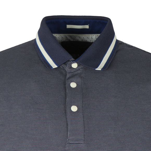 Ted Baker Mens Blue S/S Birdseye Polo main image