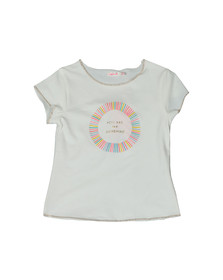 Billieblush Girls Off-white U15474 Sunshine T Shirt