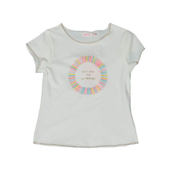 Billieblush Girls Off-White U15474 Sunshine T Shirt main image
