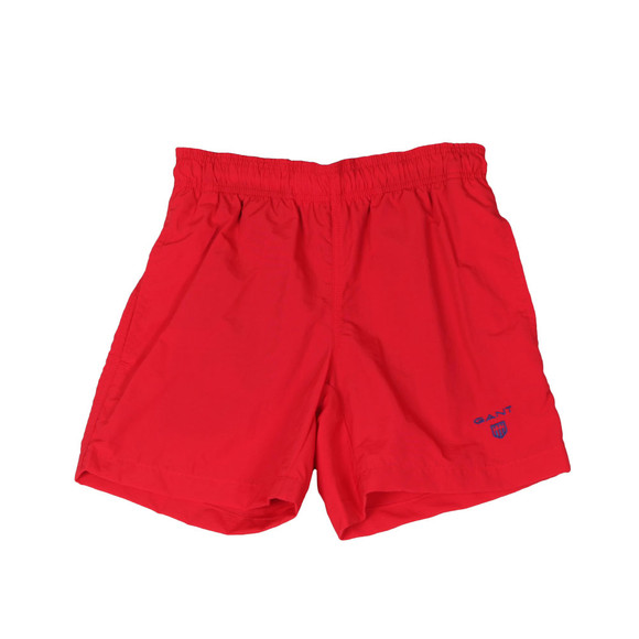 Gant Boys Red Boys Basic Swim Shorts main image