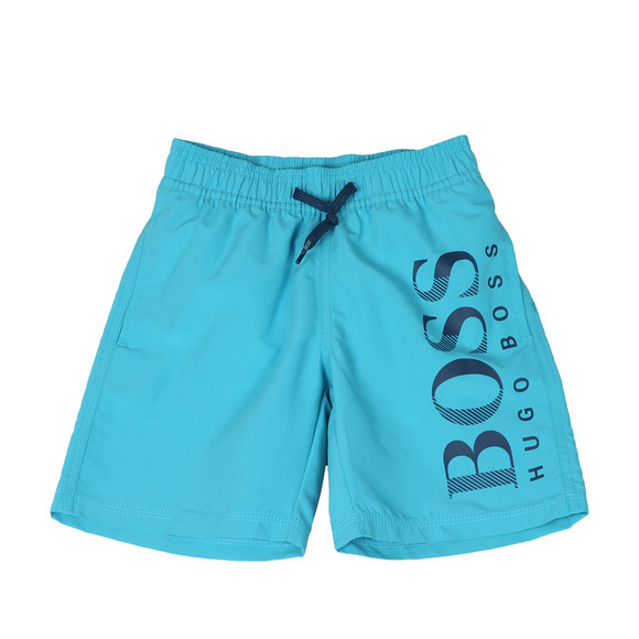 BOSS Loungewear Boys Blue J24536 Logo Swim Short main image