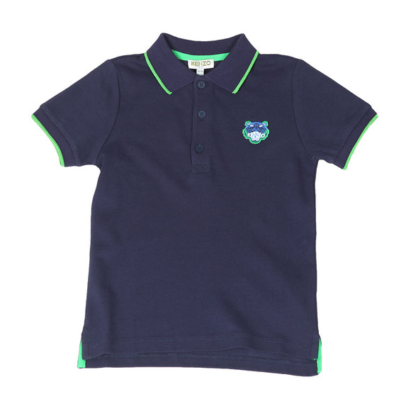 Kenzo Kids Boys Blue Tipped Logo Polo Shirt main image