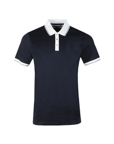 Ted Baker Mens Blue S/S Contrast Collar Polo