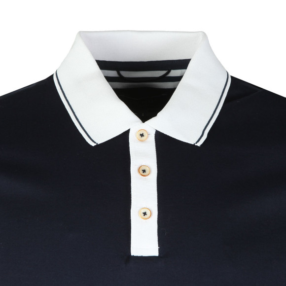 Ted Baker Mens Blue S/S Contrast Collar Polo main image