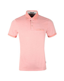 Ted Baker Mens Orange S/S Soft Touch Polo