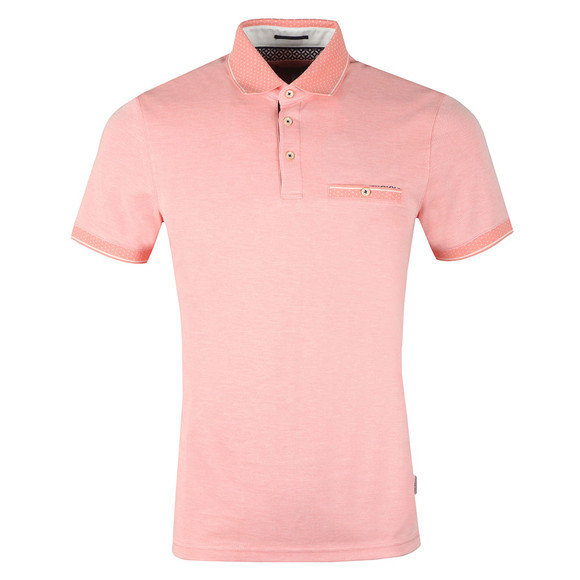 Ted Baker Mens Orange S/S Soft Touch Polo main image