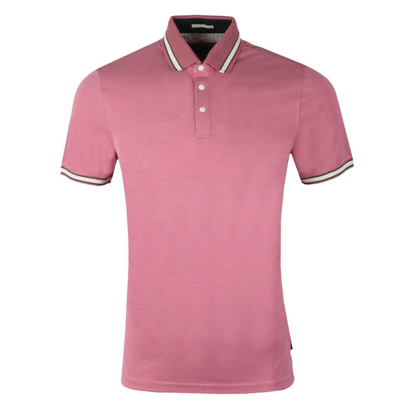 Ted Baker Mens Pink S/S Birdseye Polo main image