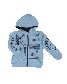 Kenzo Kids Boys Blue Full Zip Logo Hoody