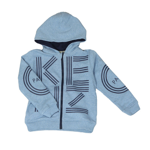 Kenzo Kids Boys Blue Full Zip Logo Hoody main image