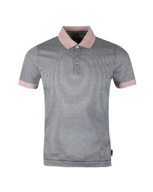 Ted Baker Mens Blue S/S Striped Ribstart Polo