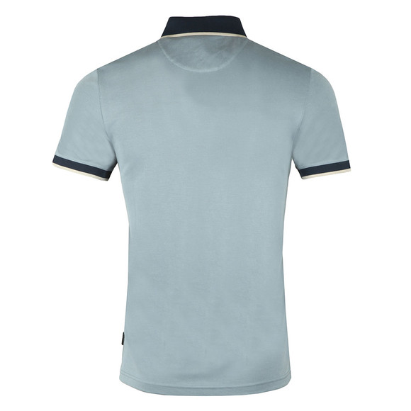 Ted Baker Mens Blue S/S Flat Knit Collar Polo main image