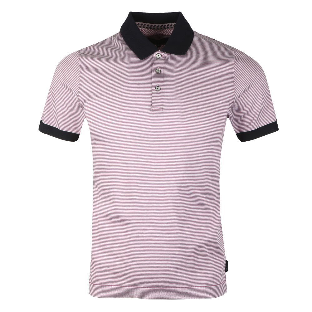 S/S Striped Ribstart Polo main image