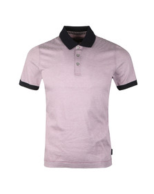 Ted Baker Mens Purple S/S Striped Ribstart Polo
