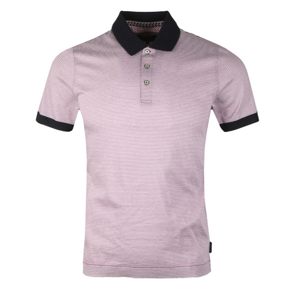 Ted Baker Mens Purple S/S Striped Ribstart Polo main image