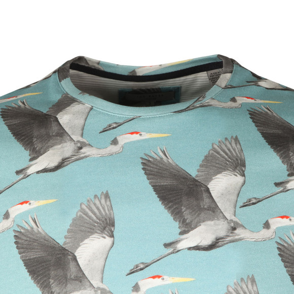 Ted Baker Mens Blue Flute S/S Bird Print Tee main image