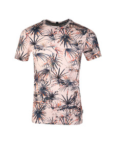Ted Baker Mens Orange S/S Tropical Print Tee