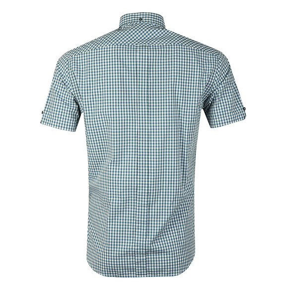 Ben Sherman Mens Green S/S Gingham Check Shirt main image