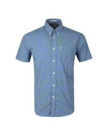 Ben Sherman Mens Blue S/S Gingham Check Shirt