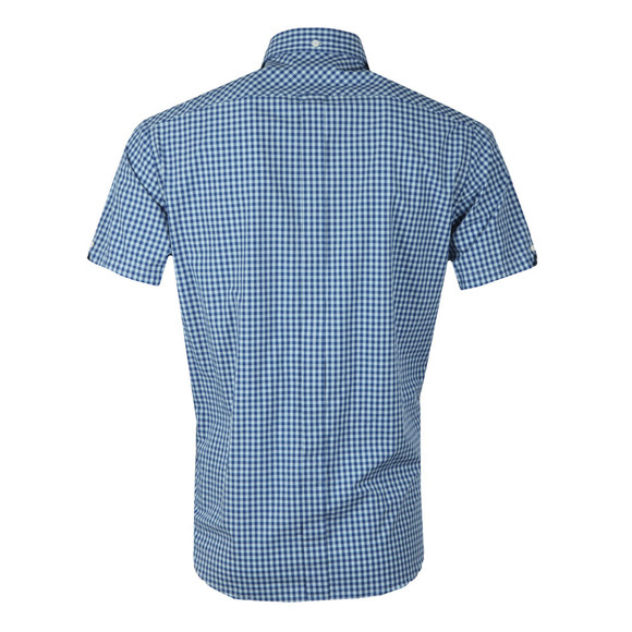 Ben Sherman Mens Blue S/S Gingham Check Shirt main image