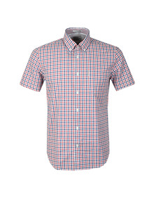 Ben Sherman Mens Red S/S Gingham Check Shirt