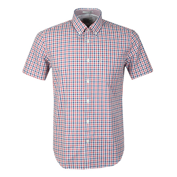Ben Sherman Mens Pink S/S Gingham Check Shirt main image