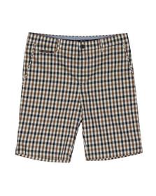 Aquascutum Mens Brown Winster Club Check Shorts