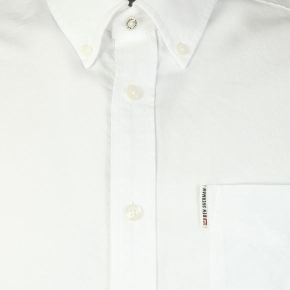 Ben Sherman Mens White S/S Classic Oxford Shirt main image