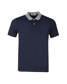 Ben Sherman Mens Blue Intarsia Collar Polo