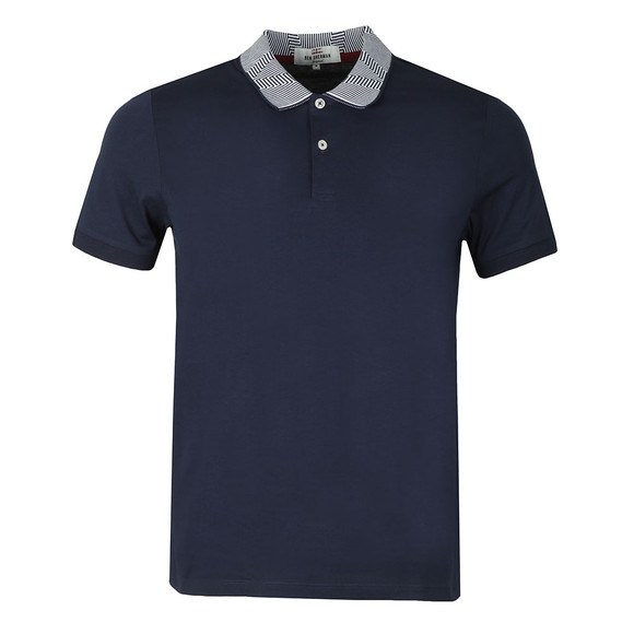 Ben Sherman Mens Blue Intarsia Collar Polo main image