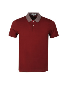 Ben Sherman Mens Red Intarsia Collar Polo