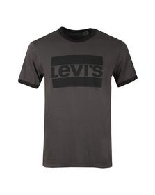 Levi's Mens Grey S/S Crew Ringer Tee