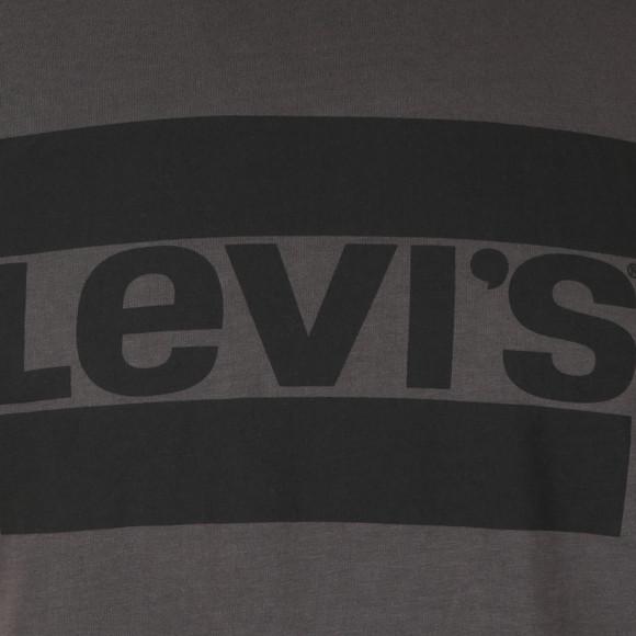 Levi's Mens Grey S/S Crew Ringer Tee main image