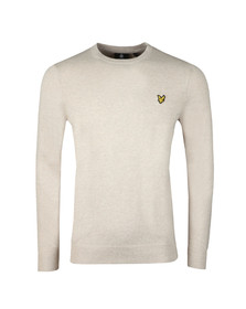 Lyle and Scott Mens Beige Crew Neck Jumper