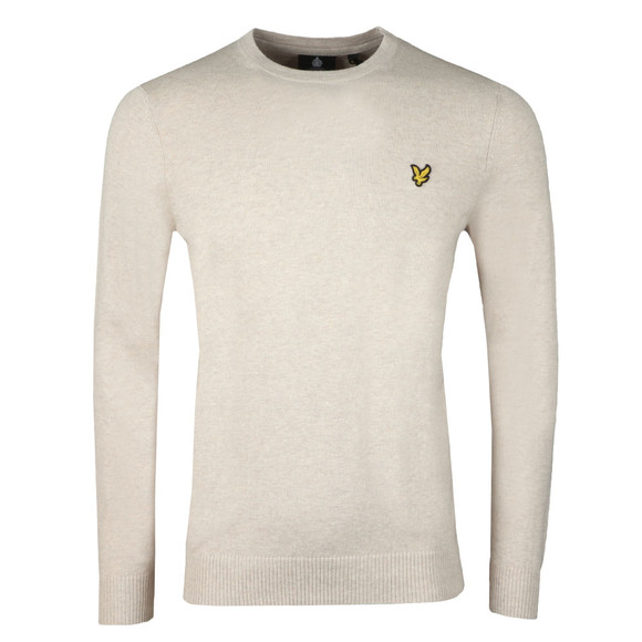 Lyle and Scott Mens Beige Crew Neck Jumper main image